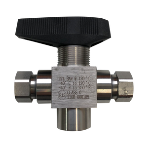 "3 Way Valve with #6 ORFS Male 1/4"" NPT Female and #6 SAE ports - American CNG"