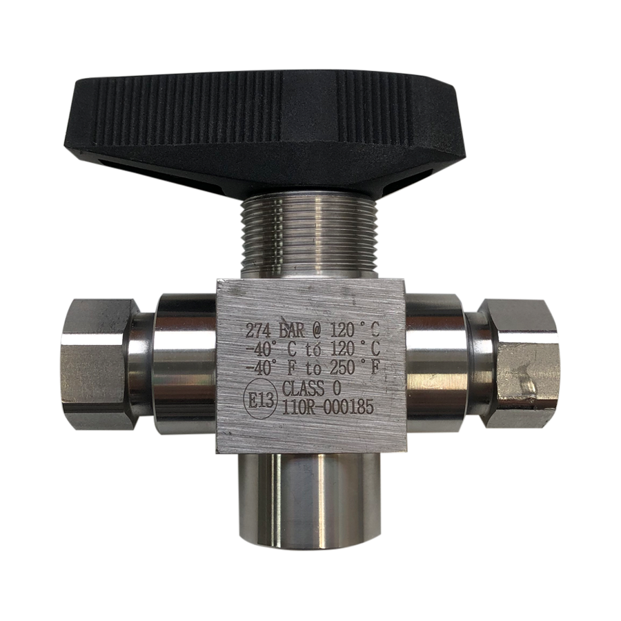 "3 Way Valve with 1/4"" NPT female ports - American CNG"