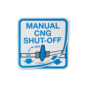 Reflective Manual CNG Shut-Off Decal - American CNG