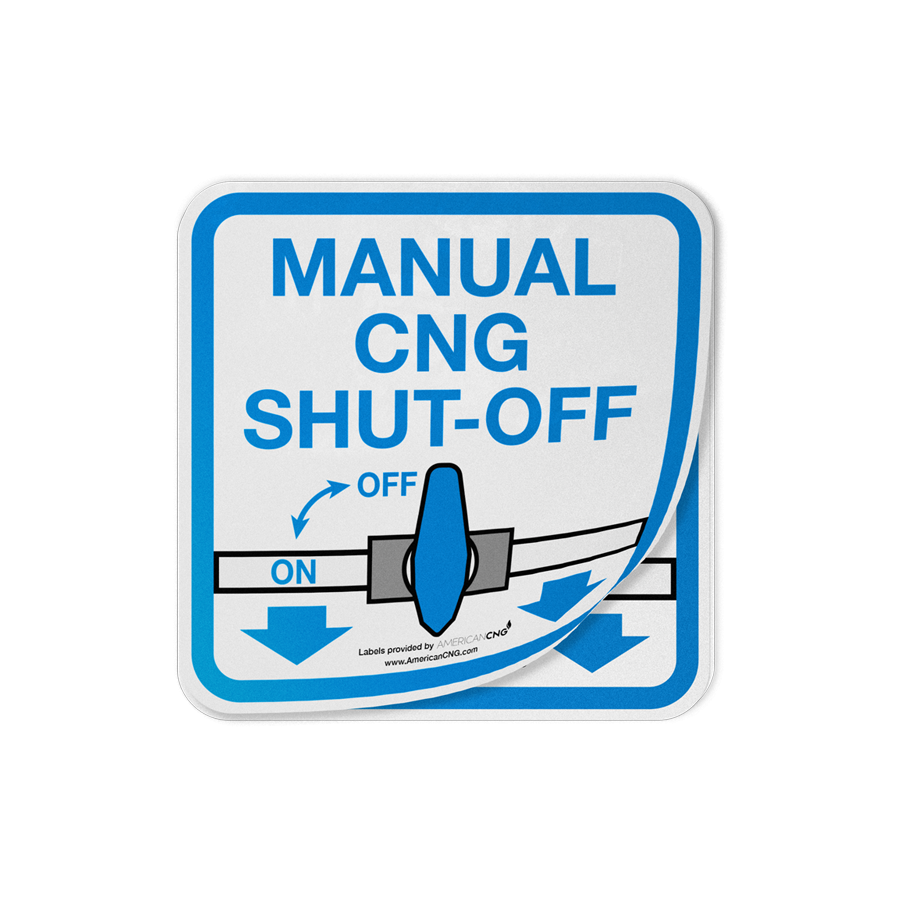 Reflective Manual CNG Shut-Off Decal