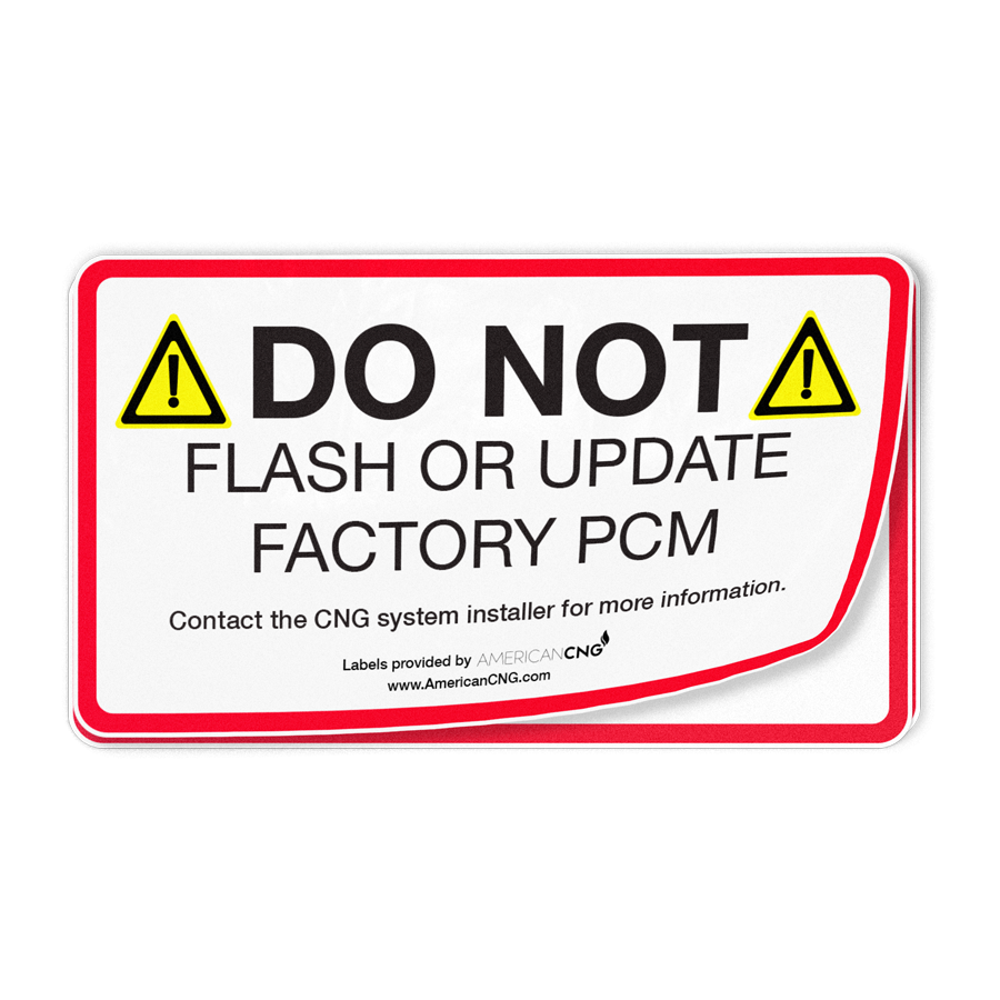 Do Not Flash Decal - American CNG