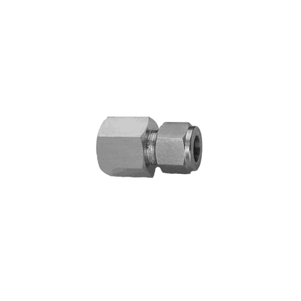 "Parker 1/4"" Tube x 1/4"" FNPT Female Straight Connector (double ferrule) - American CNG"