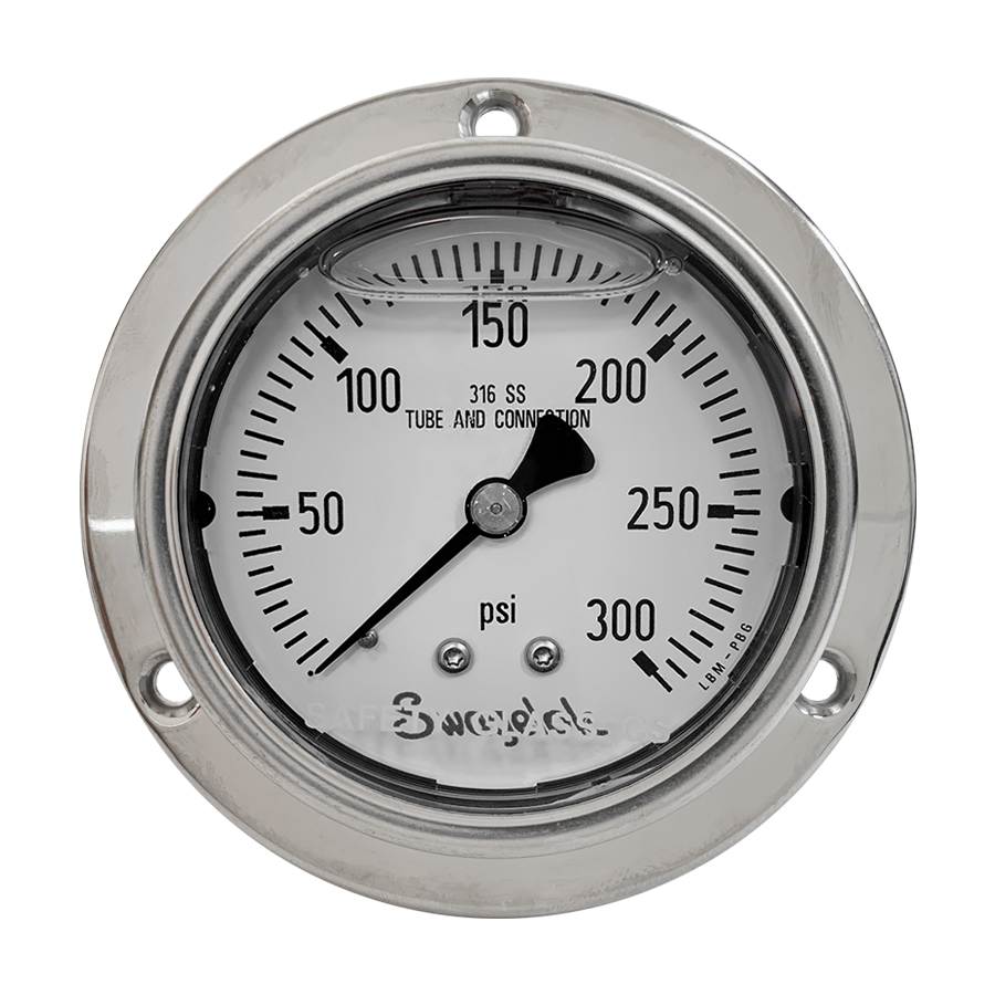 Swagelok - 300 PSI Analog Low Pressure Gauge