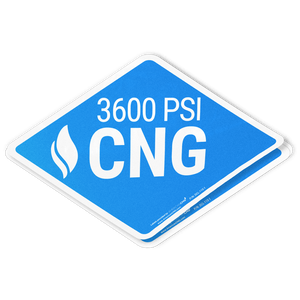 Heavy Duty Reflective 3600 PSI CNG Decal - American CNG