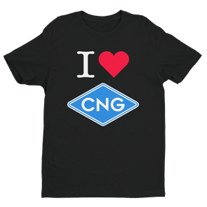 I Love CNG - Short Sleeve T-shirt - American CNG