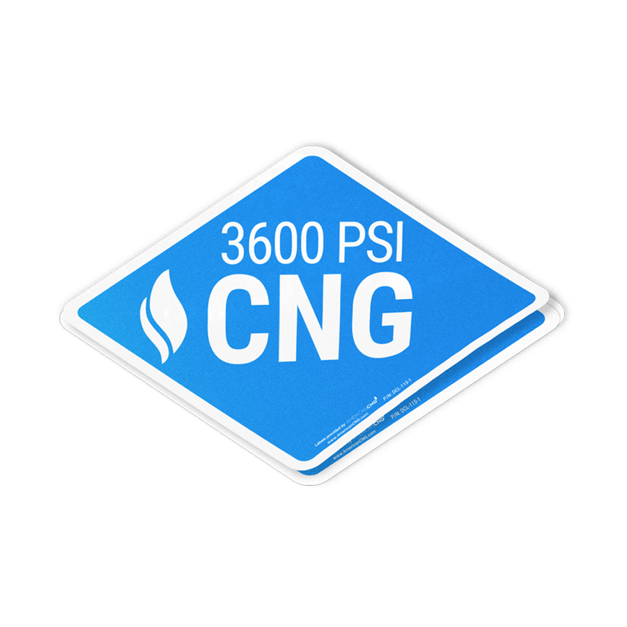 Light Duty Reflective 3600 PSI CNG Decal - American CNG