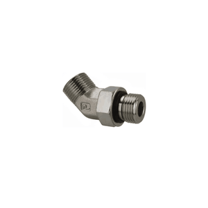 "Parker 1/4"" MALE ORFS X 7/16-20 MALE SAE 45 DEGREE ELBOW - American CNG"