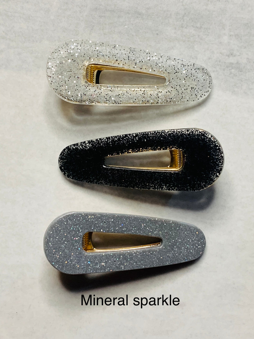 Hair clips - 3 pack- Mineral Sparkle