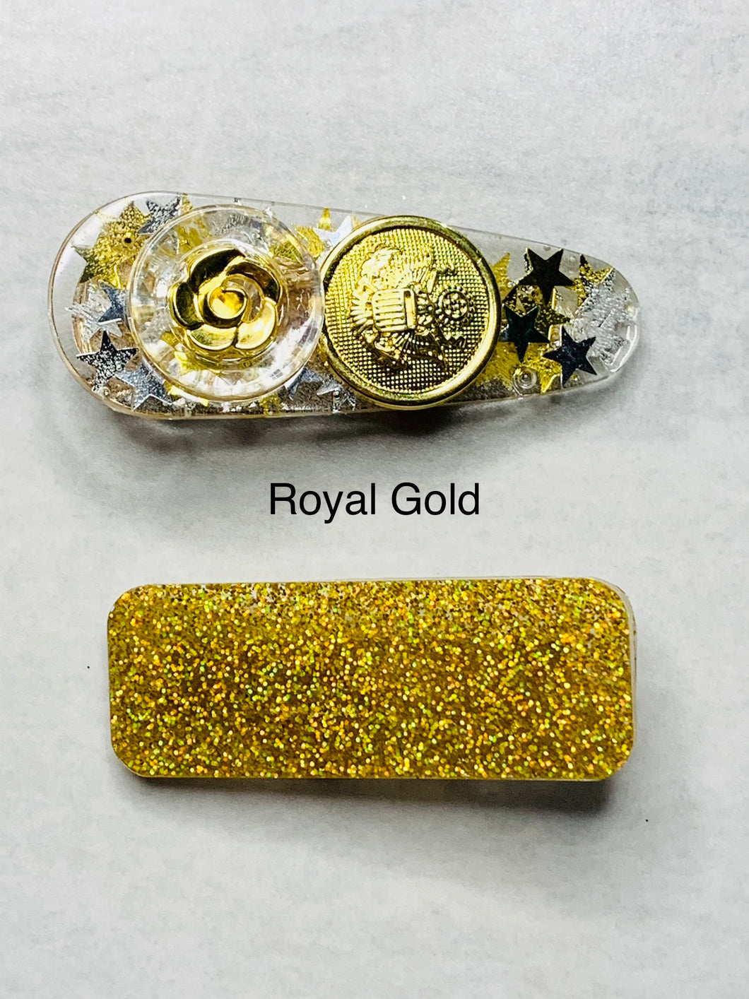 Hair clips - 2 pack - Royal Gold