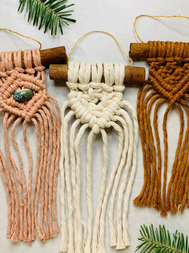 Macrame mini ornaments