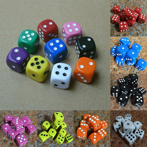 DON'T FORGET!! Multi-Color, 16mm, six sided dice