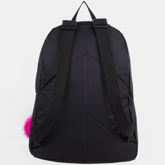 Eastsport Super Fashion-Forward Girls Backpack with Rose Gold Accent & BONUS Pom-Pom Keychain