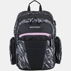 Eastsport Multipurpose Expandable Backpack with Multiple Compartments and External USB Charging Port