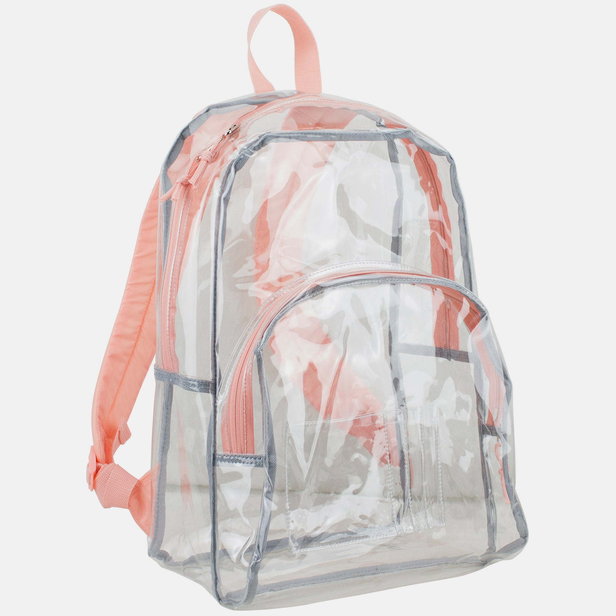 Eastsport Clear Dome Backpack with Colorful Adjustable Padded Straps