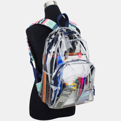 Eastsport Clear Backpack with Printed Straps