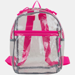 Eastsport 100% Transparent Clear Mini Backpack with Adjustable Straps
