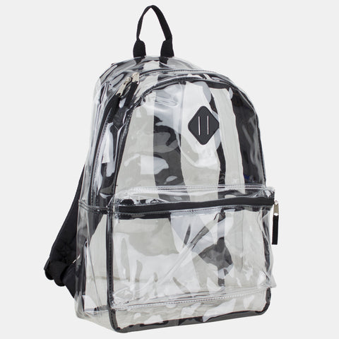 Eastsport Clear PVC Backpack,  with Diamond Tab
