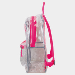 Eastsport Clear PVC Backpack with Front Diamond Lash Tab  and Colorful Adjustable Padded Straps