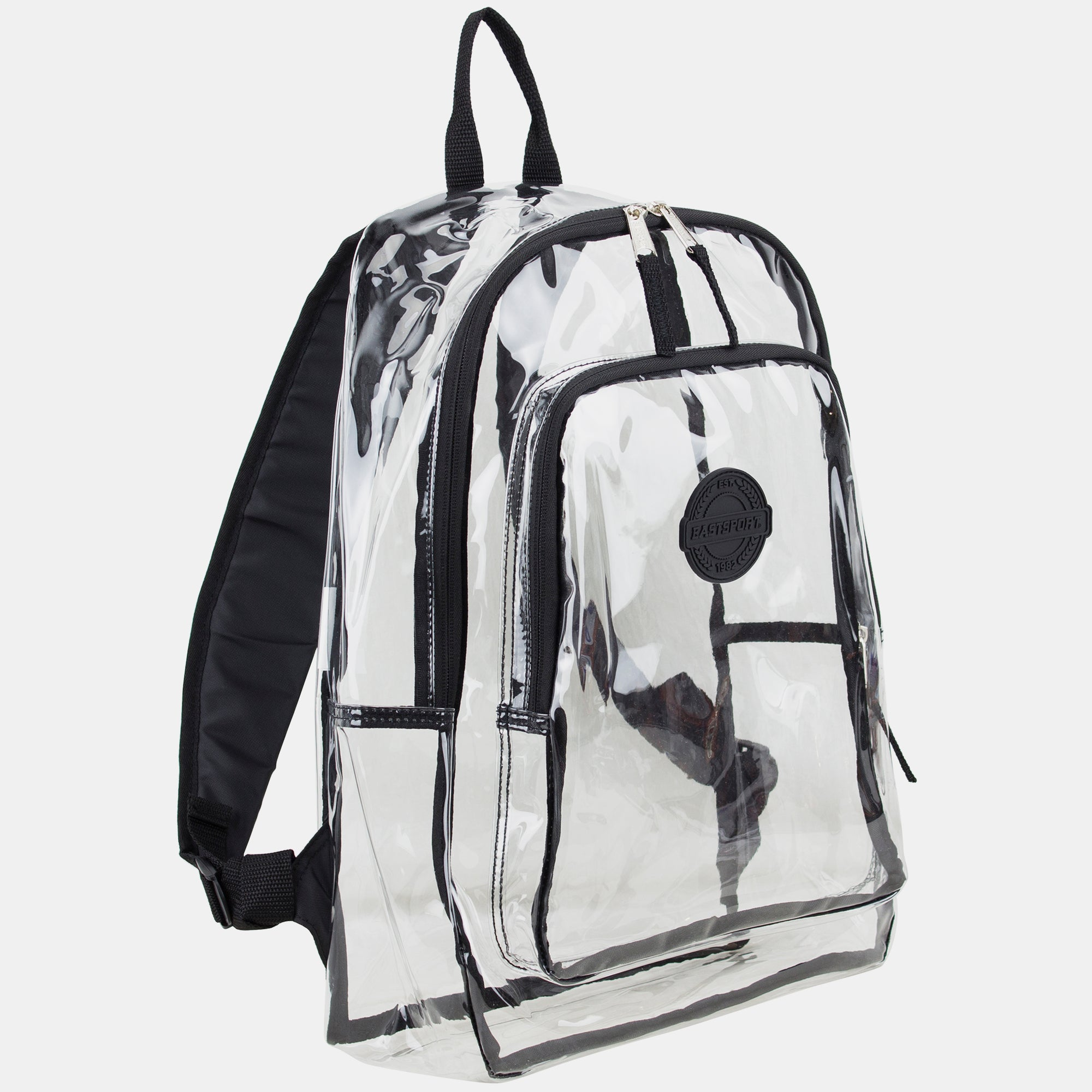 Eastsport Transparent Backpack with Front Pocket