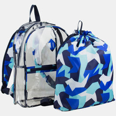 Eastsport Multi-Purpose Clear Backpack with Bonus Sling Sackpack