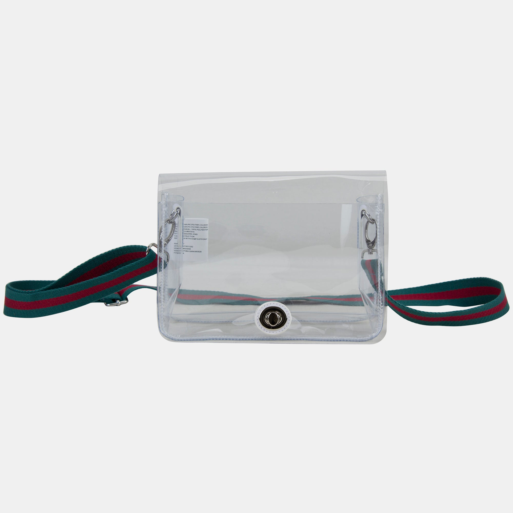 Eastsport Limited Micah Clear Crossbody with Webbing Strap