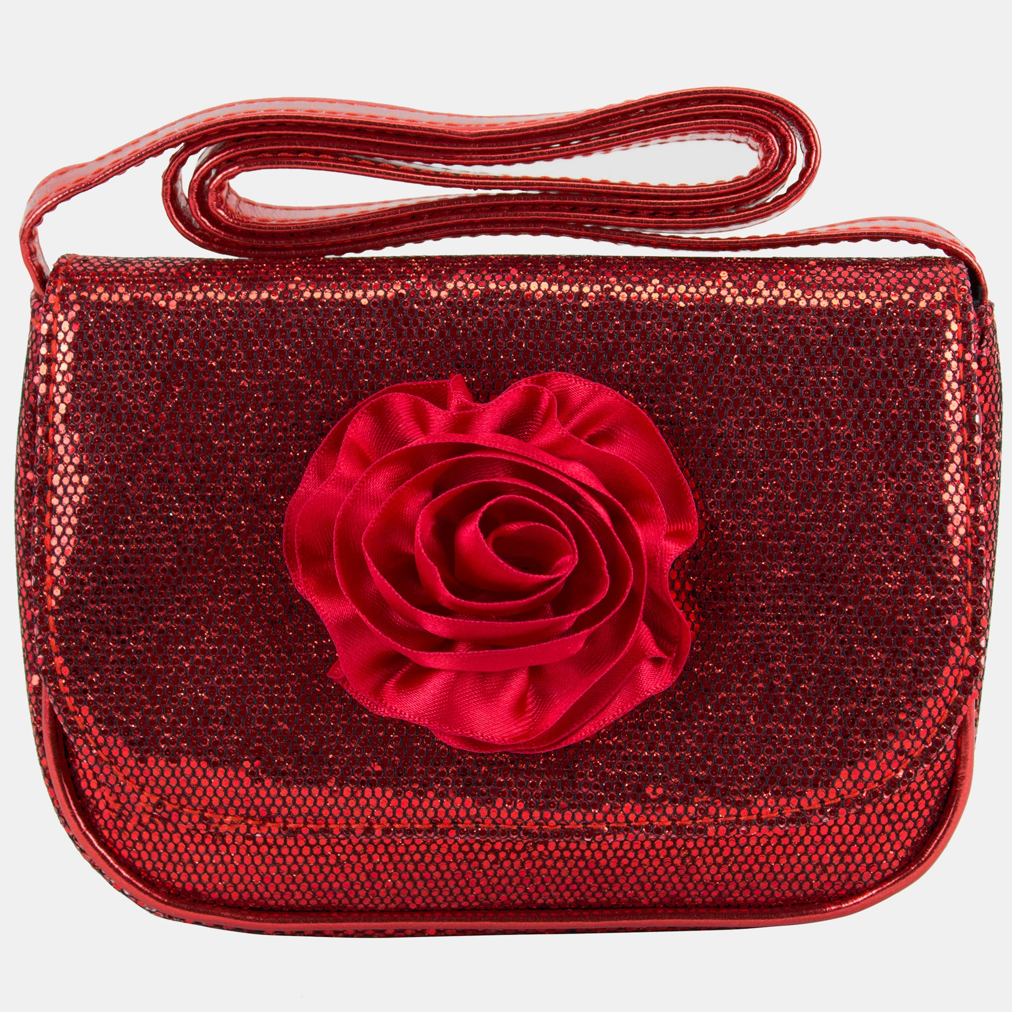 BJX Kids Mini Sparkle Occasional Bag With Satin Rose
