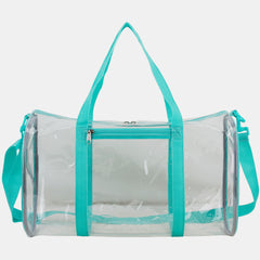 "Eastsport Clear Duffel 18"" with Removable Adjustable Crossbody Strap"