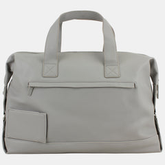 BJX Ultimate Chic Duffel with Leather-Like Construction and Large Storage Capacity with Neoprene Zip Pouch