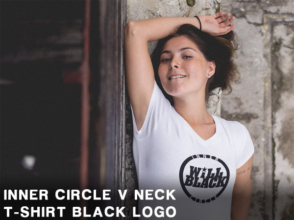 Will Black Inner Circle V Neck T-Shirt Black Logo