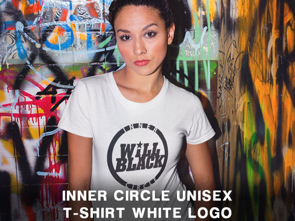 Will Black Inner Circle Unisex T-Shirt WHITE LOGO