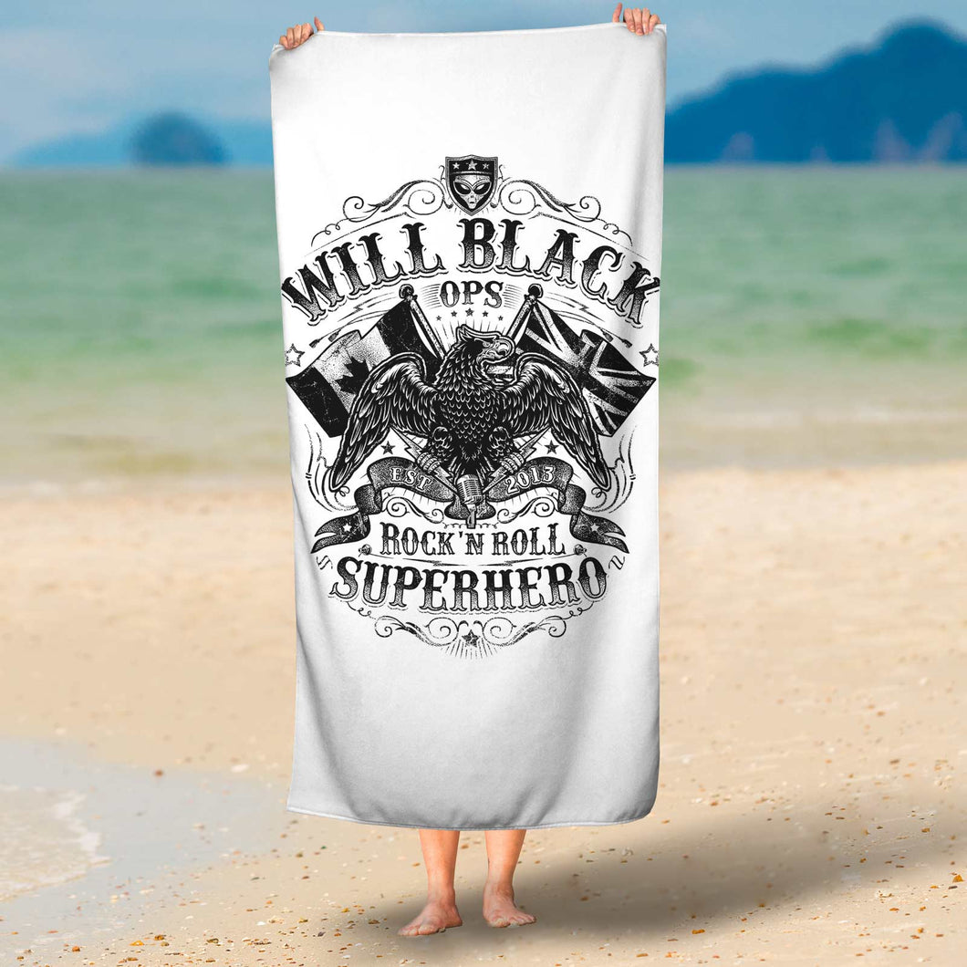 'OPS' Beach Towel