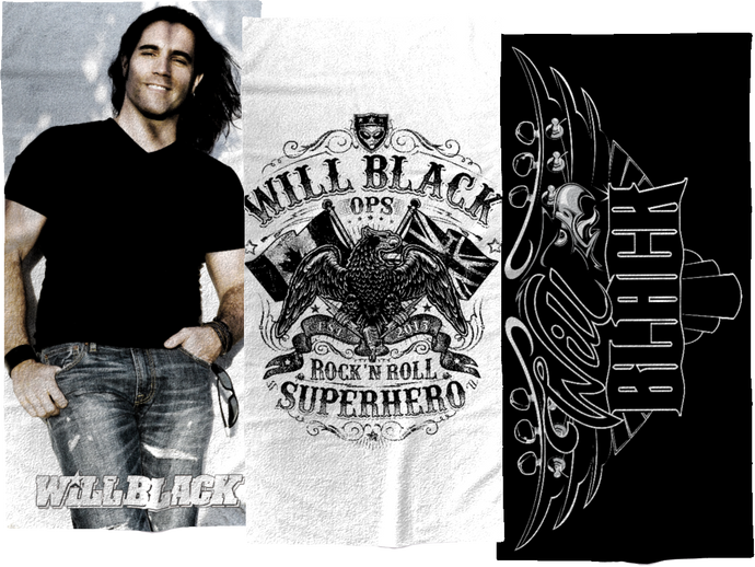 Will Black Beach Towels