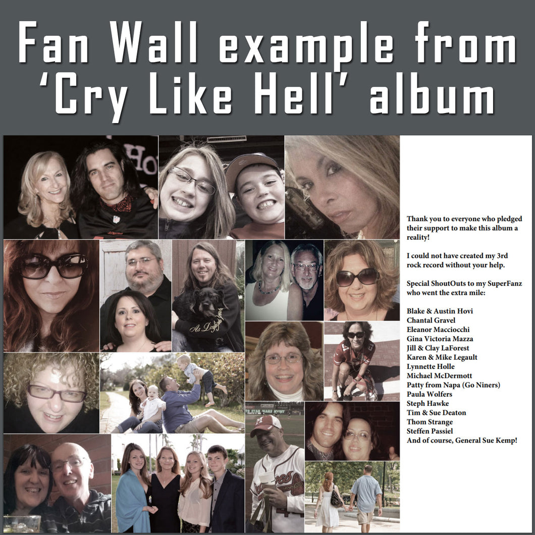 NEW ALBUM 'The Blinding Heights': Fan Wall Photo Sponsorship