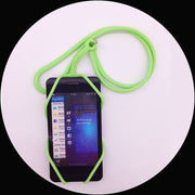 1pcs Colorful Silicone Lanyard Cell Phone Case Cover Holder Sling Necklace Wrist Strap For Huawei Sony LG CasesFor Xiaomi Mi5