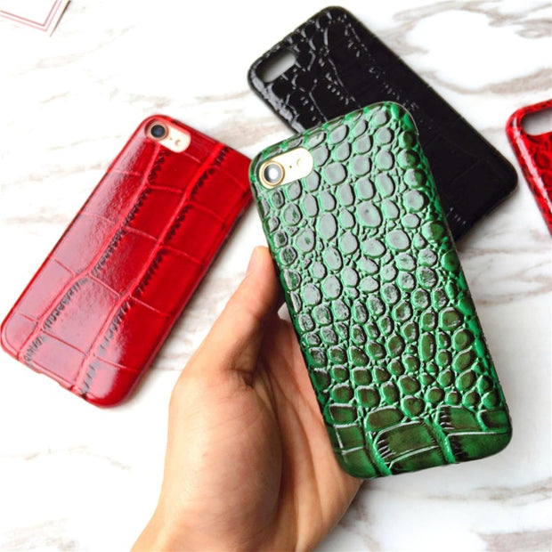 2017 Luxury Crocodile Texture Pattern Phone Cases For IPhone 6 6s Cover Snake PU Leather Cover For IPhone 6 6s 7 Plus Coque Capa
