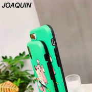 2018 For IPhone X XS 8 7 Plus Case For IPhone 6S Case Cute Pink Panther Soft IMD Cover For IPhone 7 8plus Phone Bag Case