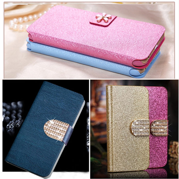 (3 Styles) Fashion Phone Flip Cover Case For Huawei Ascend Y530 C8813 C8813Q Wallet Cover For Huawei Y530 +Stand & Card Holder