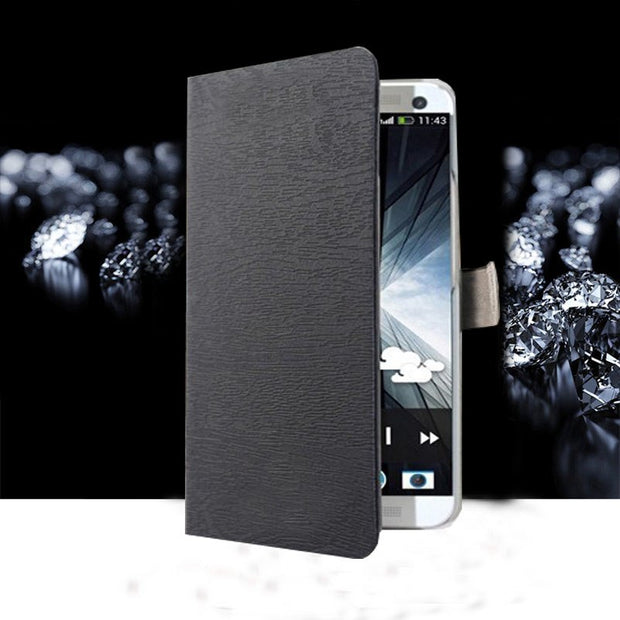 (3 Styles) Hot Sale Luxury For HTC Desire 616 D616 Case Wallet Card Pu Flip Leather Protect Cover Black Case For HTC616 Coque