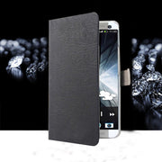 (3 Styles) Stand Case For Alcatel POP3 Pop3 (5.0inch) Wallet Card Slots Stand Case Cover Flip Pu Leather Protect Black Cover