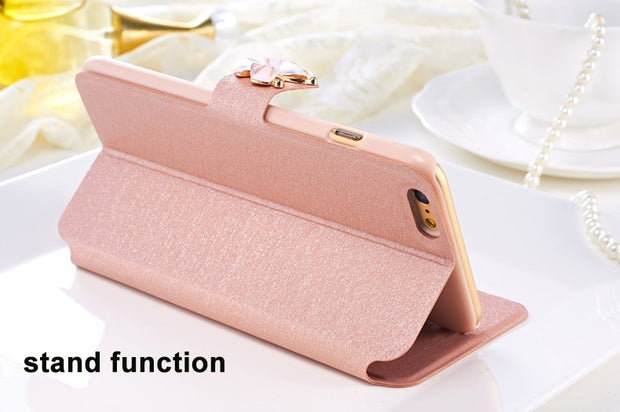 (3 Styles) Wallet Style For Huawei Y6 2018 Case High Quality PU Leather Bag For Huawei Y6 2018 Cover Skin Flip Mobile Phone Case