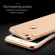 3 In 1 Luxury Hard PC Case For IPhone 6s 6 S 7 8 Plus X 5 5s SE Phone Back Cover For IPhone X 8 7 6 6s Plus 5S SE XR XS Max Case