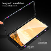 360 Magnetic Adsorption Metal Frame Case For Samsung S8 Plus Clear Tempered Glass Cover For Samsung Galaxy Note 9 8 S7 S9 Plus