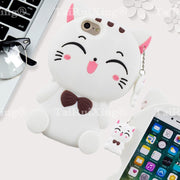 3D Fashion Cartoon Fortune Cat Phone Silicone Soft Case Cover For Samsung Galaxy SM-J3 2017 SM-J330 SM-J330H Cases Gel Shell