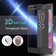 3D Full Cover Tempered Glass Protector Case For Sony Xperia X XA / Xa1 Ultra XZS / Premium X Compact Smartphone Protective Film