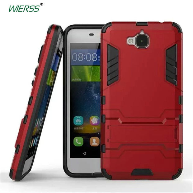 3D Shockproof Stand Hard Case For Huawei Y6 Pro TIT-U02 TIT-AL00 For Huawei  Honor 4C Pro TIT-L01 Phone Armor Case Back Cover