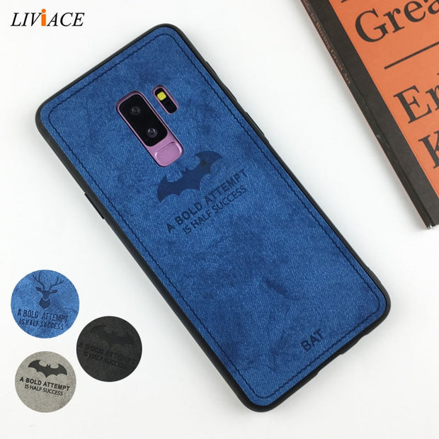 3d Deer Cloth Phone Case On For Samsung Galaxy S7 Edge S8 S9 Plus Note 8 9 Note8 Note9 Retro Leather Tpu Back Cover Coque