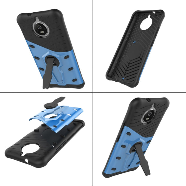 AKABEILA Anti-knock Armor Phone Case For Motorola Moto G5S XT1793 XT1794 XT1792 Luxury PC + TPU Protective Cover With Stand