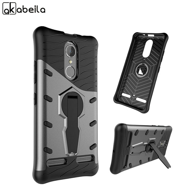 AKABEILA Armor Phone Cases Cover For Lenovo Vibe K6 K6 Power K33a42 5.0 Inch Case Phone Back PC TPU Bags Protective Shell K33a48
