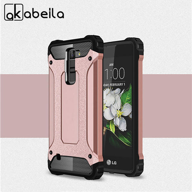 finest selection 06620 1bad2 AKABEILA Covers Cases For LG K7 LTE Tribute 5 LS675 Q7 LTE MS330 K7 Dual  SIM K7 M1 Housing Bags 2in1 Robot Shell Capa Cover