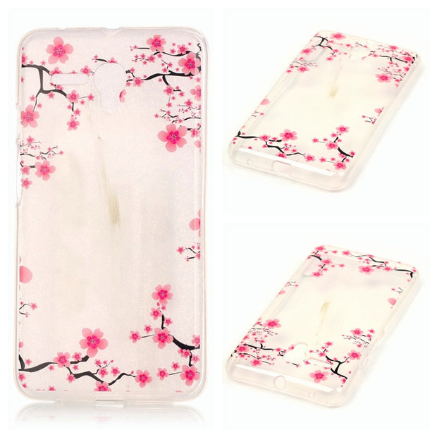 "Alcatel One Touch Pop 3 5025D 5.5"" Case Animal Flower Anime Silicone TPU Soft Back Cover Case For Alcatel Pop 3 5025D 5025 5.5"""